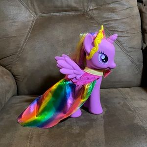 My Little Pony with a rainbow cape!